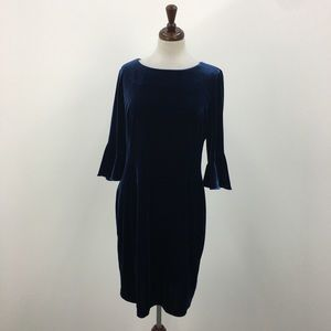 DKNY Dark Blue Velvet Dress